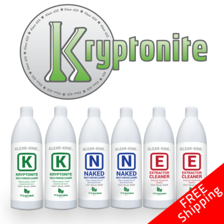 Kryptonite Sample Half Case Extraction & Bong Cleaners
